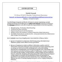 Resume Examples Engineering Cover Letter For Aircraft Engineer  MyPerfectResume Com