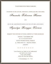 h wedding invitations jakarta  new wedding, invitation samples