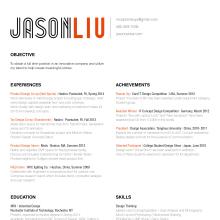 Resume Spring2014 1 File  Product Designer Resume