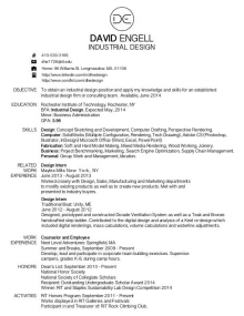 my resume - Industrial Designer Resume