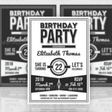 Baby Big One Birthday Invitation Template By Katzeline KL At - Retro birthday invitation template