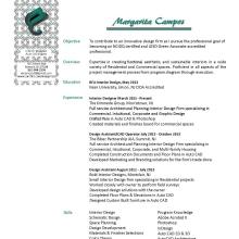 junior interior designer resume