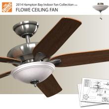 hampton bay flowe ceiling fan