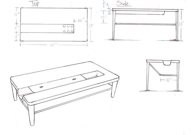 Coffee Table Sketches