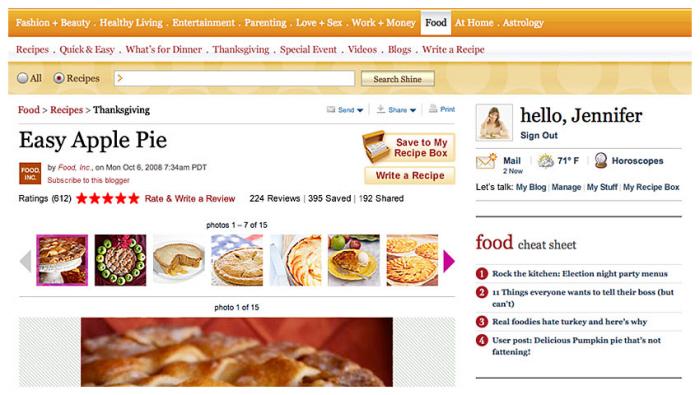 Yahoo Sine / Food by Seva Dyakov at Coroflot com