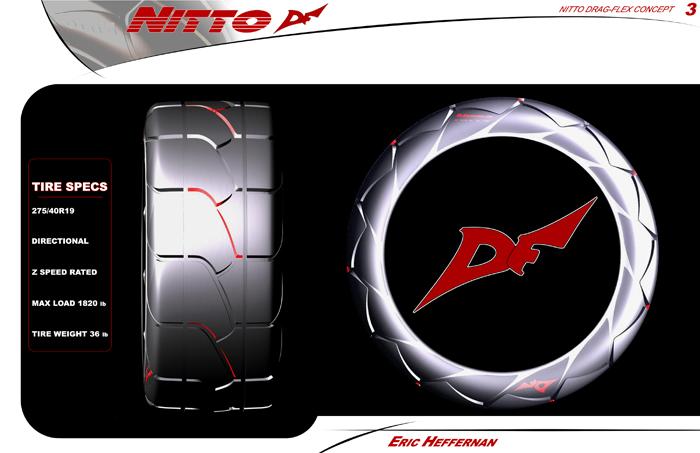 Nitto Muscle Car Tire Design by Eric Heffernan at Coroflot.com