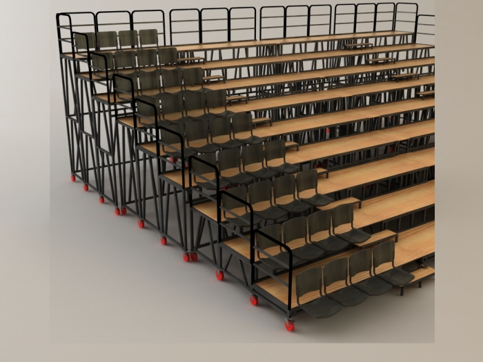 Gradas Para Teatro Theatre Grandstands By Miriam