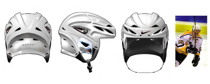 Nike Quest Helmet - 2001 - The High-end Nike Helmet was designed to become  the reference for hockey player head protection. 6bd727ece