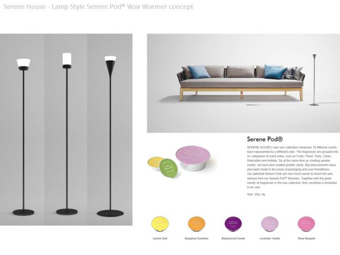 Serene Pod® Wax Warmer - Lamp / Wall-plug - Serene House by Edward ...