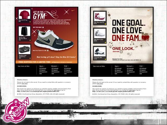 813368d41126 Nike  Niketown Direct Mail - Design and production of direct marketing  email templates