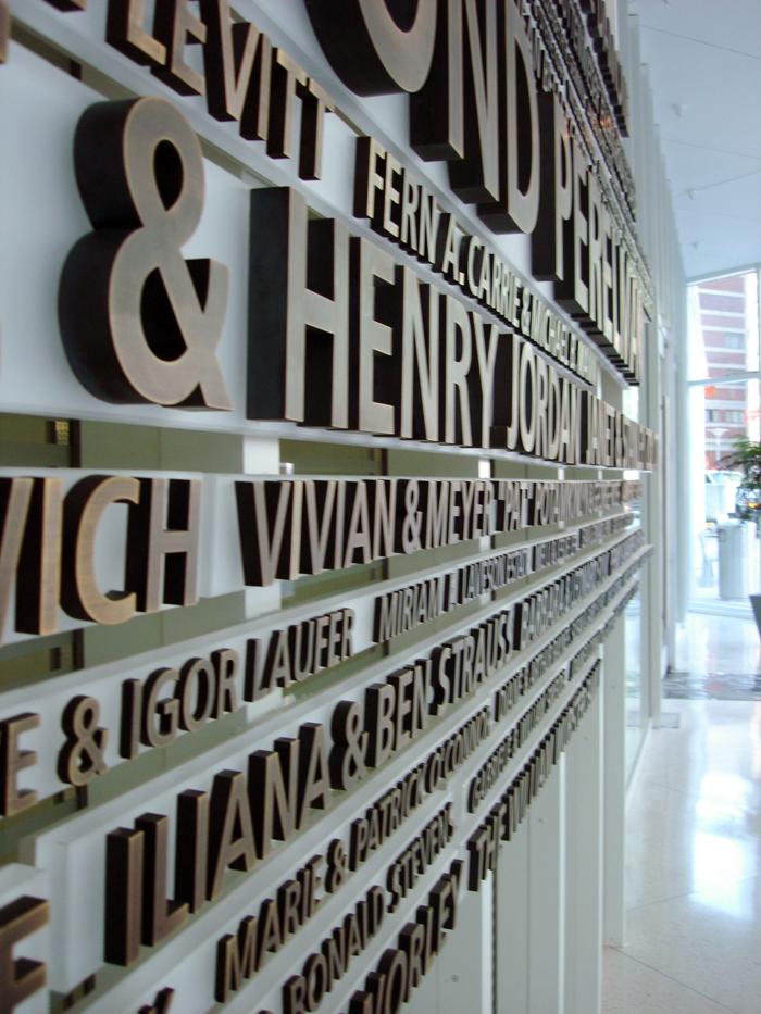 Perelman Donor Wall By Mark Jenkinson At Coroflot Com
