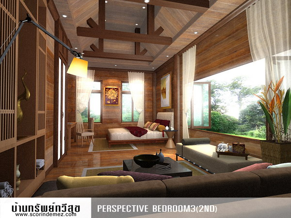 Thai interior design for Thai style house design