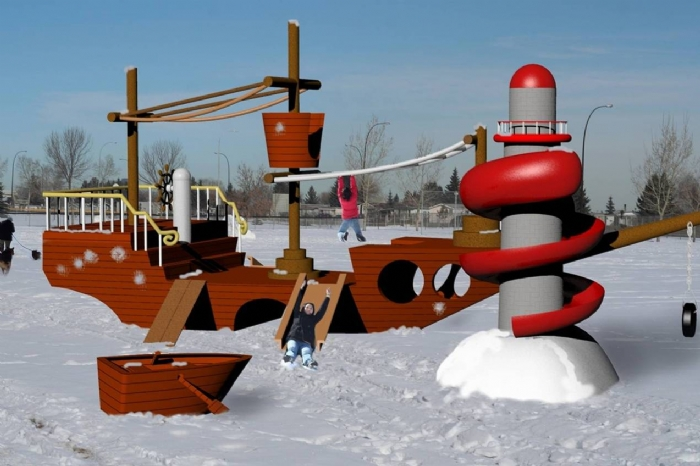 Rhino playground design renders by Barbara Chung at Coroflot com