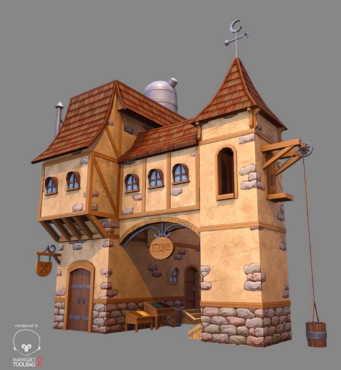 Stylized Fantasy House By Gerald Cruz At Coroflot Com