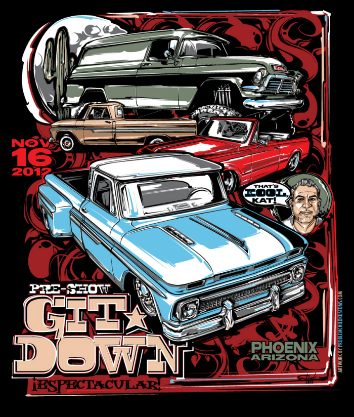 2012 Git-Down Poster and Tee by Brian Stupski at Coroflot com
