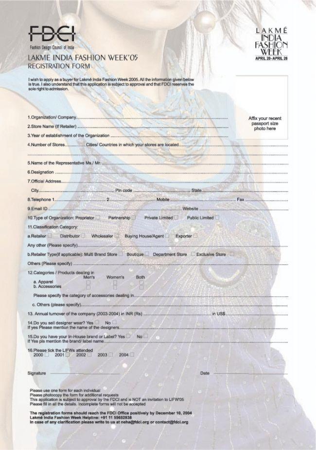 Lifw 05 Buyers Registration Form By Alpi Boylla At Coroflot Com