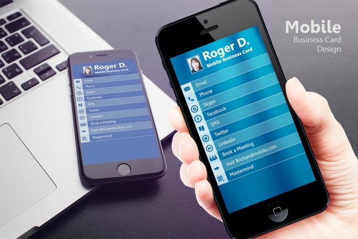 mobile business card design by abhishek katyal at coroflotcom - Mobile Business Card