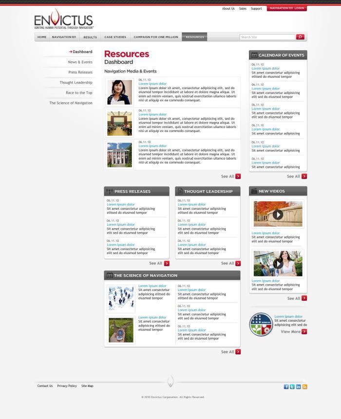 Envictus Website By Darren Kurre At Coroflot.com