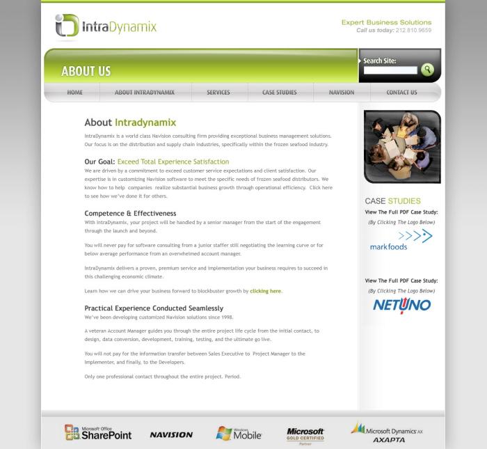 Intradynamix Website By Darren Kurre At Coroflot.com