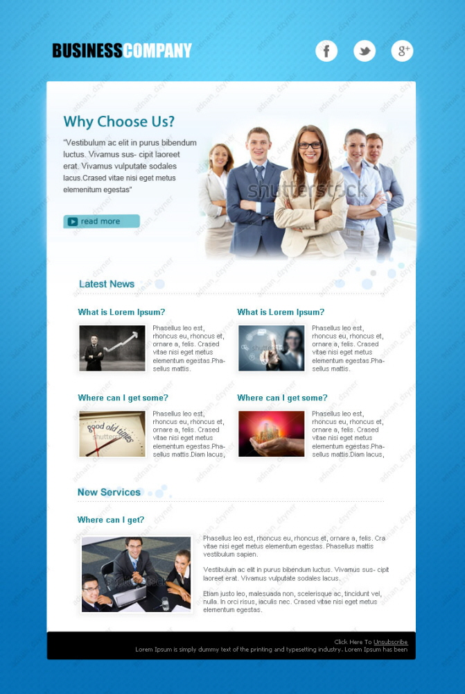 E-Newsletter Designs by Muhammad Adnan at Coroflot com