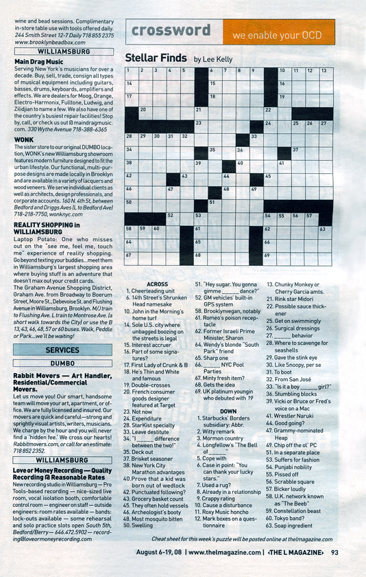 graphic about Star Magazine Crossword Puzzles Printable identify CROSSWORD PUZZLE AUTHORING /// L Journal via *** nyc