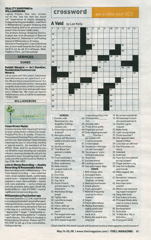 photo about Star Magazine Crossword Puzzles Printable referred to as CROSSWORD PUZZLE AUTHORING /// L Journal via *** nyc