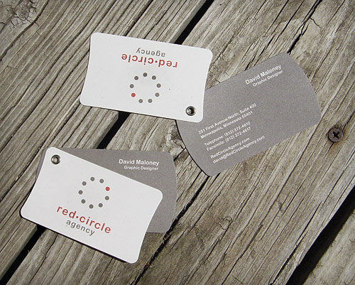 Print work by david maloney at coroflot red circle agency business cards business cards for a native american owned advertising agency featuring natural paper and a hand set eyelet colourmoves