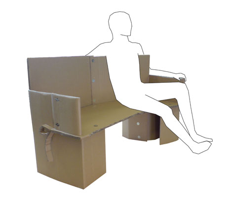 cardboard chair design with legs.  Legs Cardboard Chair Project  In Groups We Were Asked To Design A Chair  Support Two People In Social Way And Could Only Use 3mx1m Of Corrugated Cardboard  Intended Design With Legs