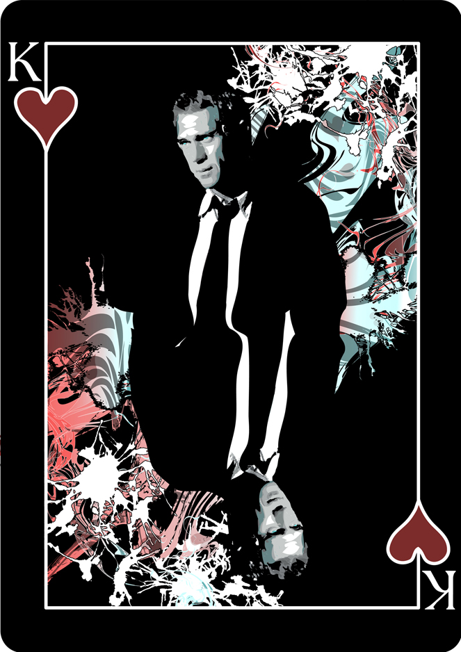 steve mcqueen playing card design by melanie armstrong at
