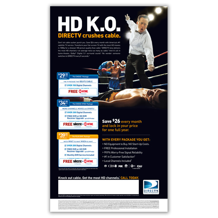 Print Production: DIRECTV (Acquisition Marketing) By