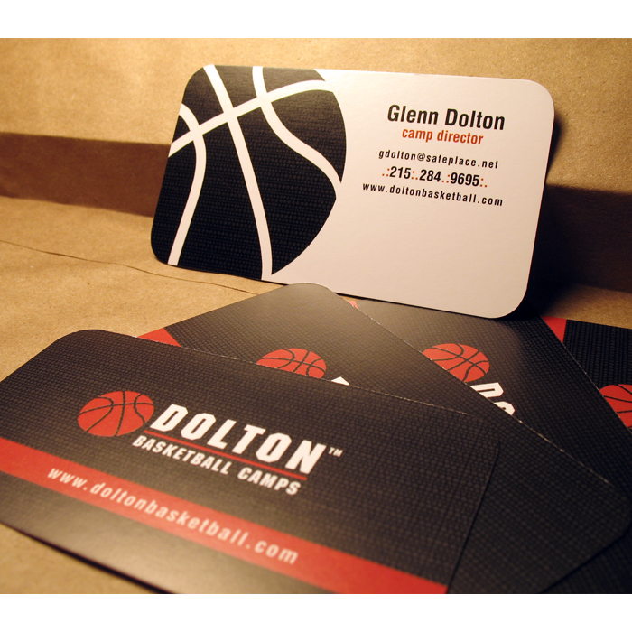 Print by collin venuto at coroflot dolton basketball camps business cards mr glenn dolton hired me to design his logo and business cards my goal was to emulate the rubber texture of a colourmoves