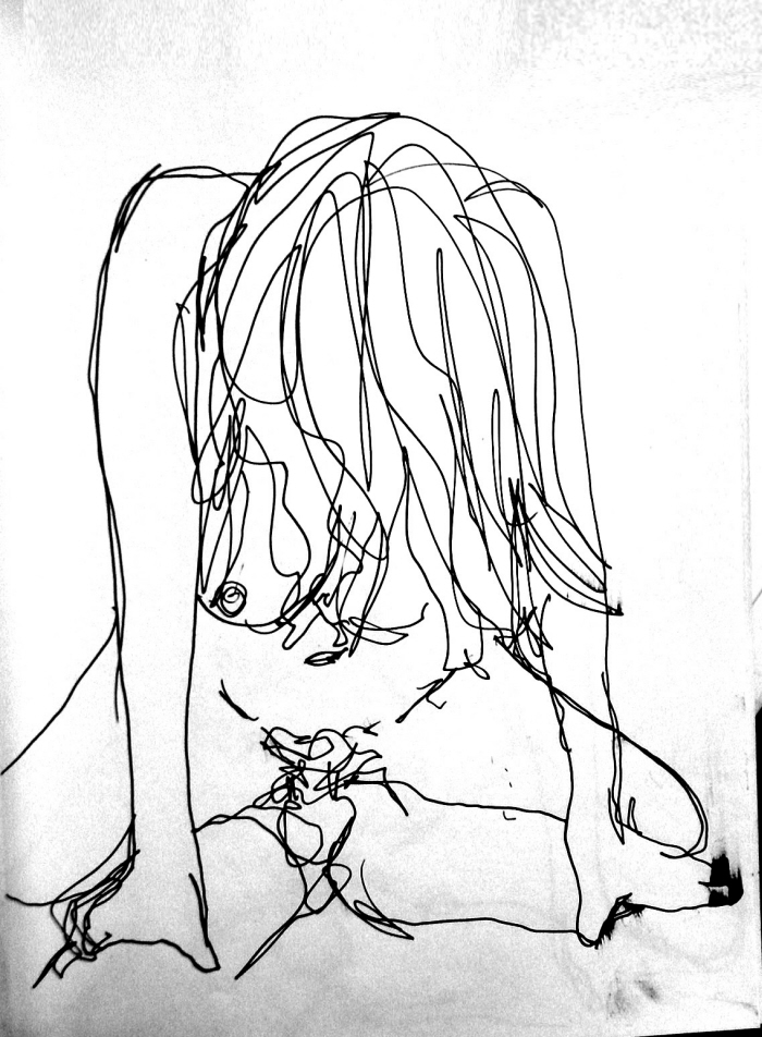 Xxx sketches sex ballpoint pen on paper