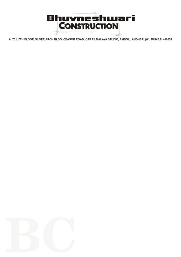 Letterheads by ilyas qureshi at coroflot construction company letterhead design altavistaventures Images