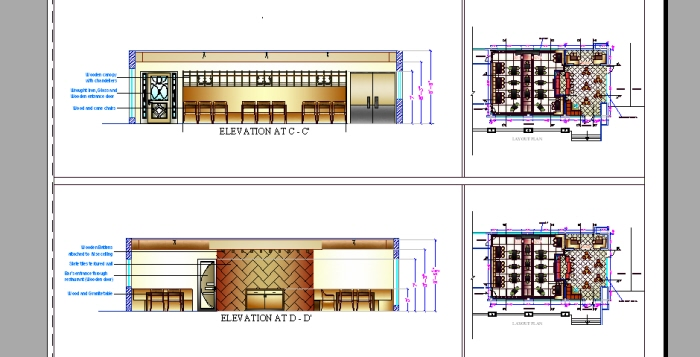 Plan And Elevation Of Restaurant : Commercial space planning by alisha arora at coroflot