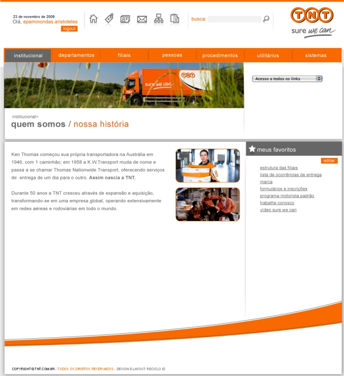 2010 - Interactive - TNT Intranet by Cristiano Henrique at