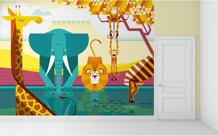 childrens bedroom wall murals by E-GLUE Studio at Coroflot.com