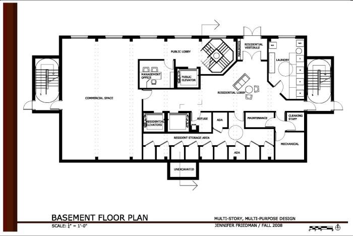 Office Building Floor Plans: Multi-Story Multi-Purpose Design By Jennifer Friedman At