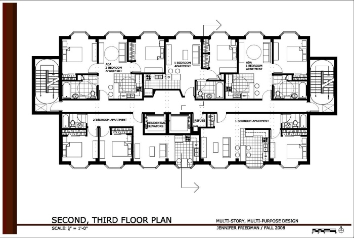 two story office building plans. Modren Building Second And Third Floor Plans For Office Building Converted Into Apartments  Commercial Spaces There Are Three Onebedroom Two Twobedroom  In Two Story Office Building O
