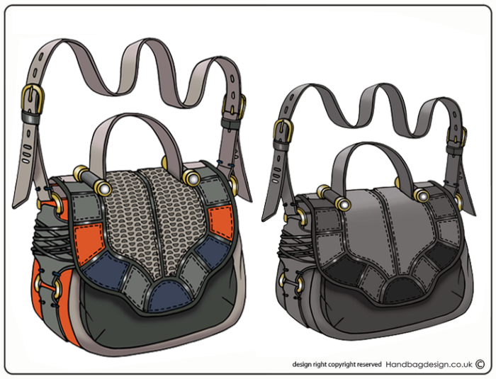 Handbag Purse Design Illustration Sketch Drawing Cad