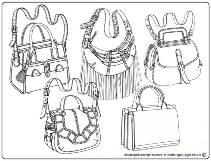 Handbag Purse Design Illustration Sketch Drawing Hand Rendering By Emily O Rourke At Coroflot