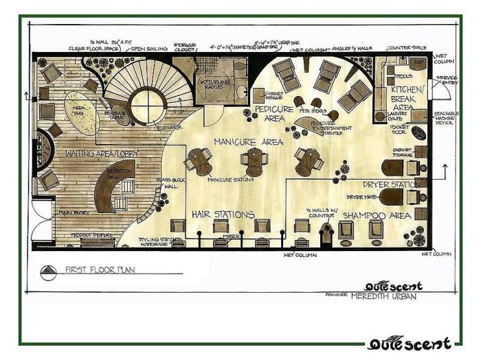 Salon Floor Plans Free: PORTFOLIO By Meredith Urban Van Veen At Coroflot.com