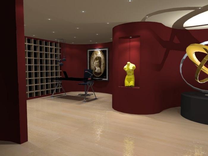 Interior lighting visualization by light visualizer at coroflot