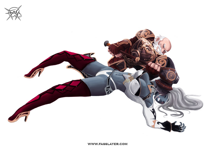 Dwarf And Dark Elf By Fernando Santibanez At Coroflot Com