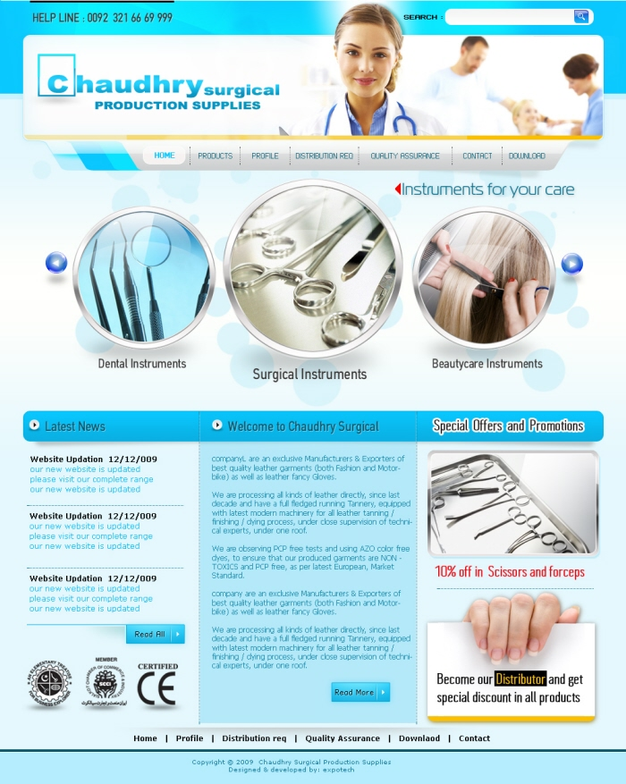 Medical Template Surgical Denatal Veterinary And Beauty Care I Personaly Design Compile Develop Products Photshoot Of This Project