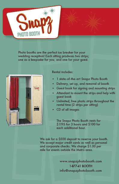 snapz photo booth flyers by danielle alexander at coroflot com