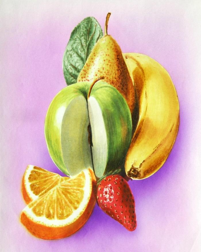 тем, как нарисовать фрукты фото целом, можно