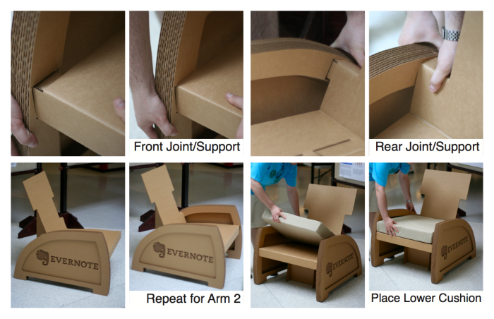 Cardboard chair instructions Origami Assembly Instructions For Corrugated Cardboard Chair For Conventions Coroflot Thinking Chair By Kyle Koch At Coroflotcom