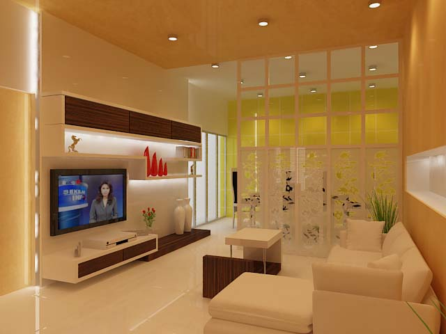 living room and dining room design by Ivon Lim at Coroflotcom