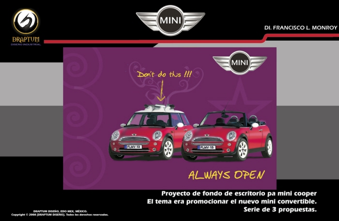 Mini Cooper Don T Do This Wallpapers To Promotion The New Under Slogan Always Open