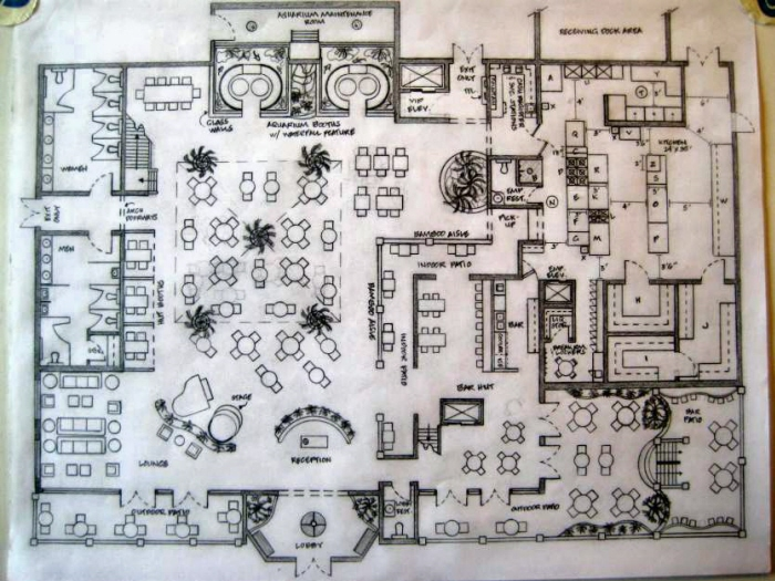 The hut restaurant floor plan personal project by